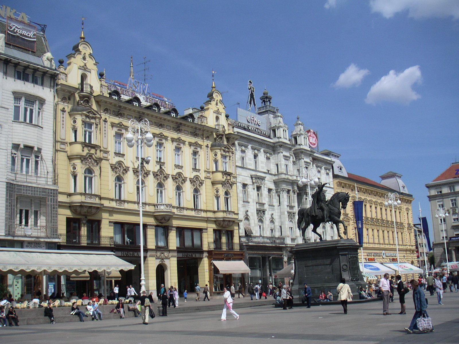 Jelacic Denkmal in Zagreb