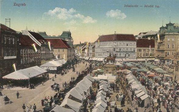 Jelacic Platz in Zagreb
