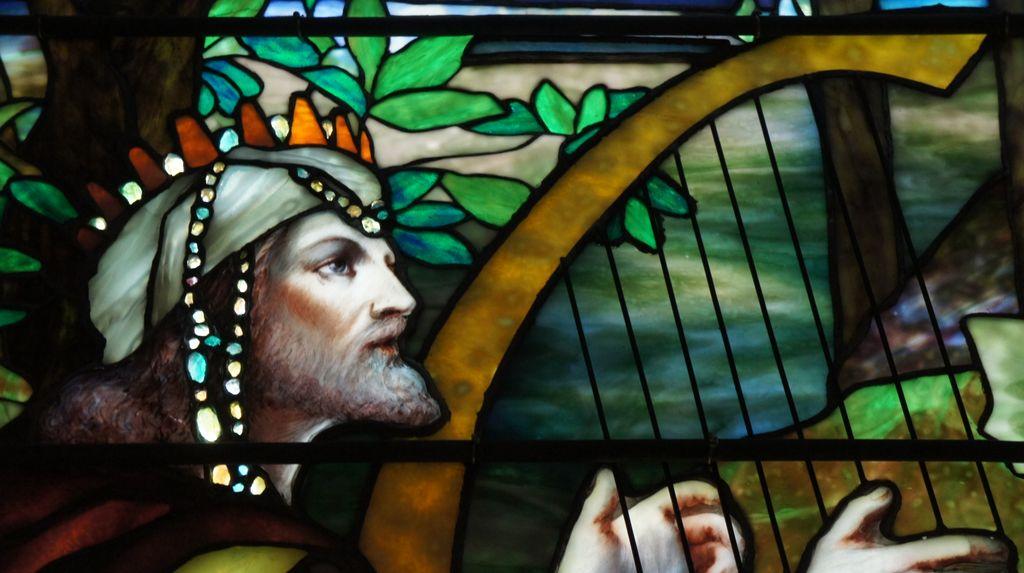 David Playing His Harp, Detail