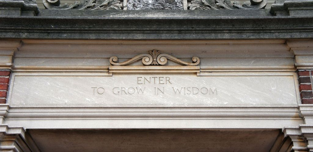 Enter to grow in wisdom!