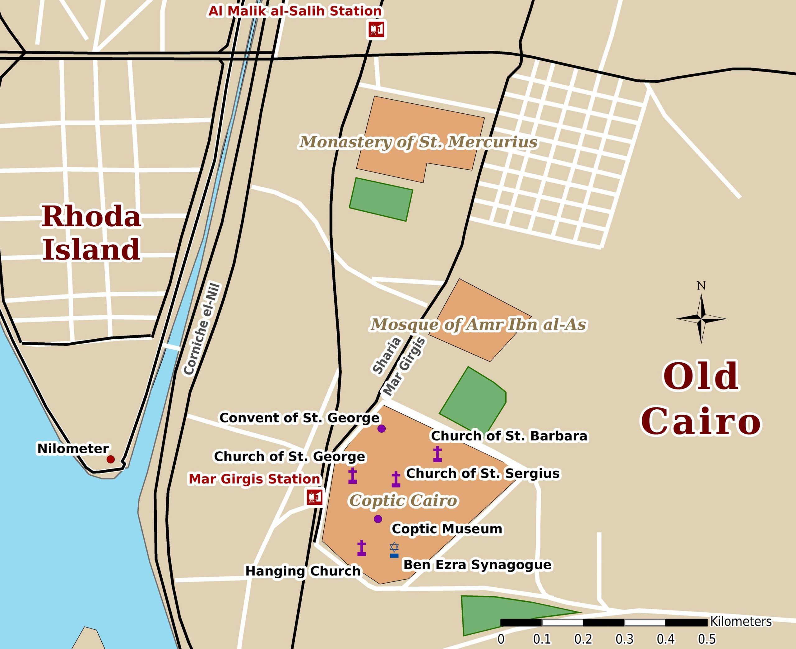 Old Cairo Map